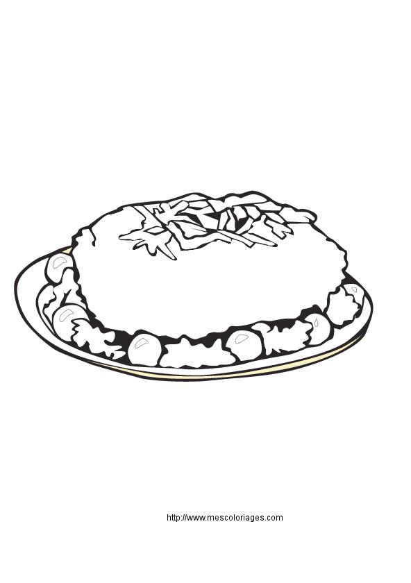 Coloriage et dessins gratuits Repas riche en Vitamines à imprimer