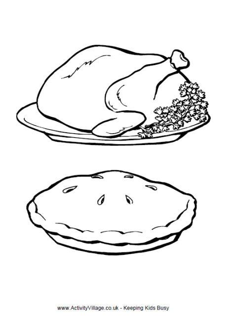 Coloriage et dessins gratuits Repas Rôti à imprimer