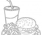 Coloriage et dessins gratuit Repas Sandwich à imprimer