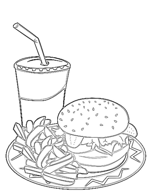 Coloriage et dessins gratuits Repas Sandwich à imprimer