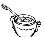 Coloriage Repas Soupe