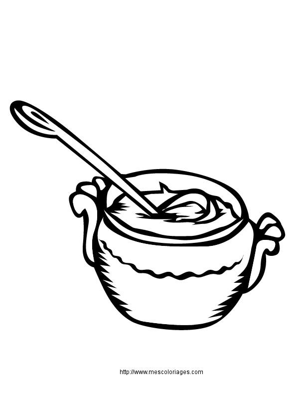 Coloriage et dessins gratuits Repas Soupe à imprimer
