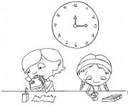 Coloriage et dessins gratuit Temps de Repas à imprimer