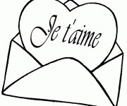 Coloriage dessin  Amour 4