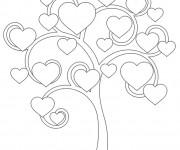 Coloriage Arbre des Coeurs