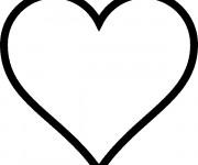 Coloriage Coeur Amour vecteur