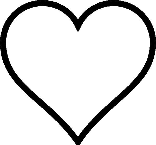 Coloriage et dessins gratuits Coeur Amour vecteur à imprimer