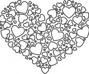 Coloriage et dessins gratuit Coeur d'amour magnifique à imprimer