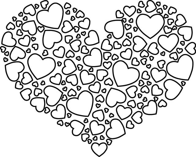 Coloriage Coeur Amour Gratuit.Coloriage Coeur D Amour Magnifique Dessin Gratuit A Imprimer