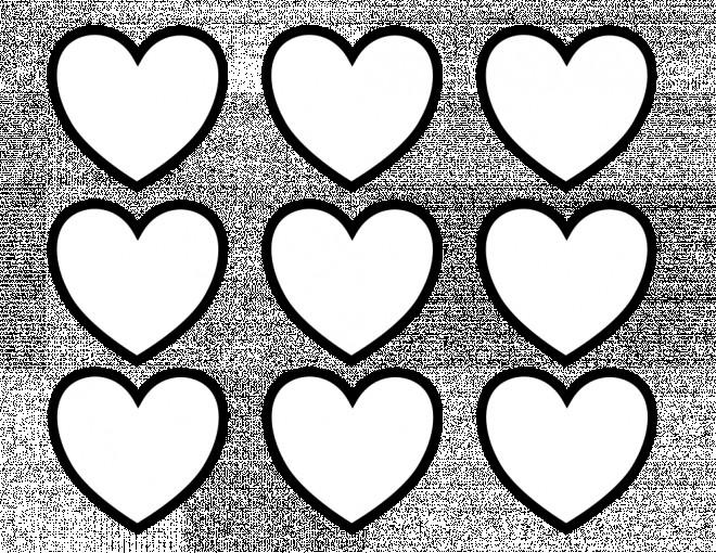 Coloriage Coeur En Ligne Dessin Gratuit A Imprimer