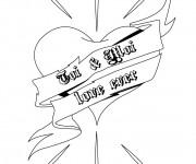 Coloriage et dessins gratuit Coeur et Amour pour Toujours à imprimer