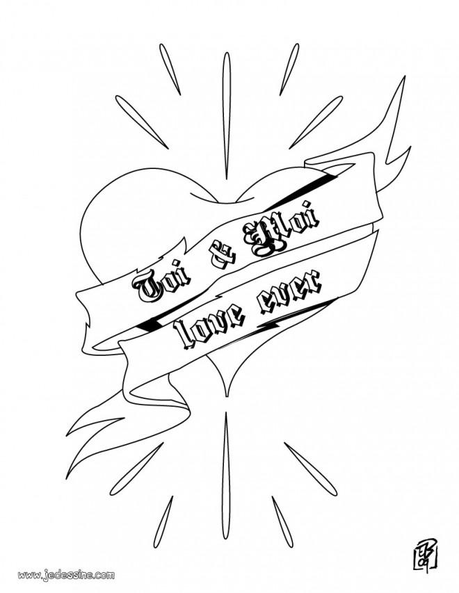 Coloriage et dessins gratuits Coeur et Amour pour Toujours à imprimer