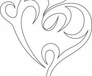Coloriage Coeur pour relaxer