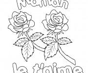 Coloriage et dessins gratuit Fête de nos Mères couleur à imprimer