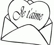Coloriage Lettre d'Amour