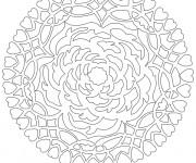 Coloriage Mandala Rose et Coeur