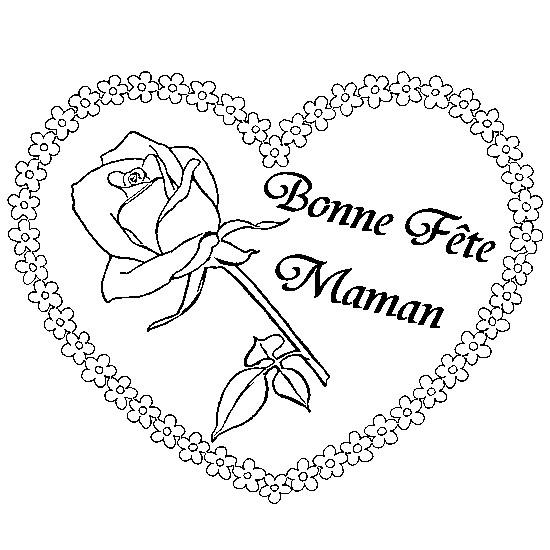 Coloriage et dessins gratuits Meilleurs Voeux pour Maman à imprimer