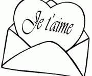 Coloriage et dessins gratuit Mot d'Amour à imprimer