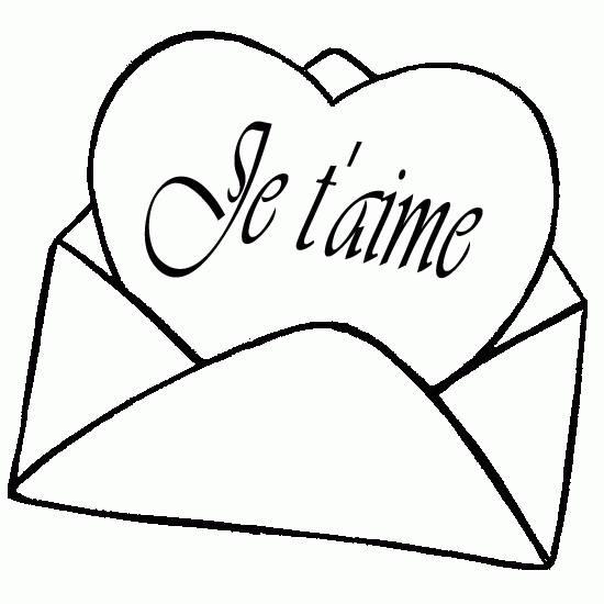 Coloriage mot d 39 amour dessin gratuit imprimer - Un coeur amoureux ...
