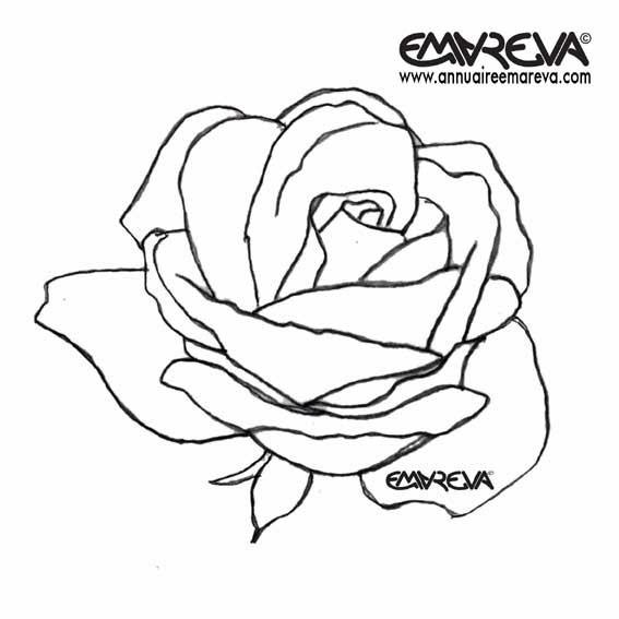 Coloriage et dessins gratuits Rose aimable à imprimer