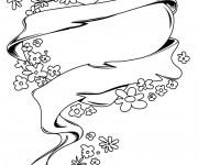 Coloriage Rose et Coeur à décorer