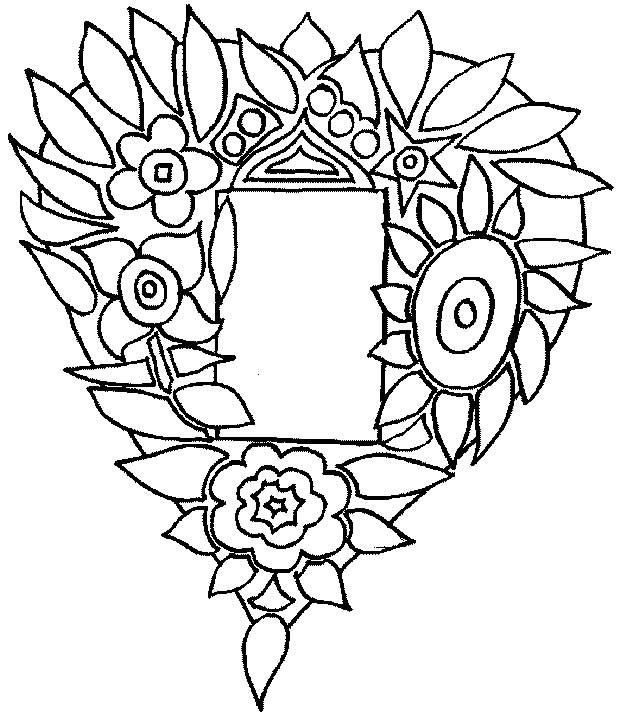 Coloriage et dessins gratuits Rose et Coeur à découper à imprimer