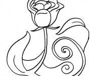 Coloriage Rose pour Les Amoureux