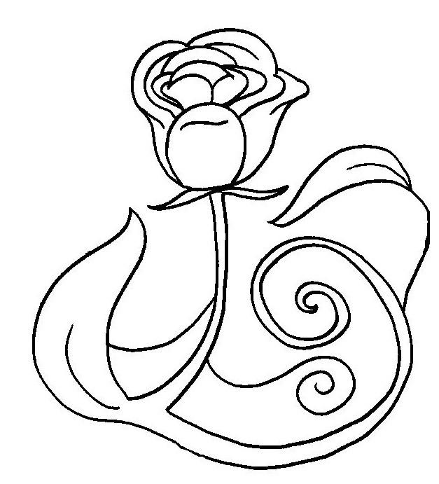 Coloriage et dessins gratuits Rose pour Les Amoureux à imprimer