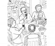 Coloriage et dessins gratuit Manger maternelle à imprimer