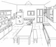 Coloriage Modèle cuisine en ligne