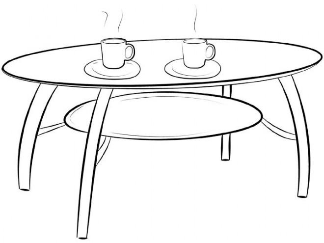 Coloriage et dessins gratuits Prendre un café à La Salle à manger à imprimer