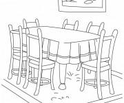 Coloriage dessin  Salle a Manger 3