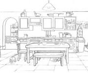 Coloriage et dessins gratuit Salle à manger couleur à imprimer