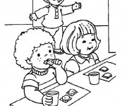 Coloriage et dessins gratuit Salle à manger facile à imprimer