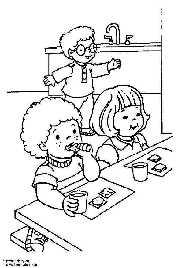 Coloriage et dessins gratuits Salle à manger facile à imprimer