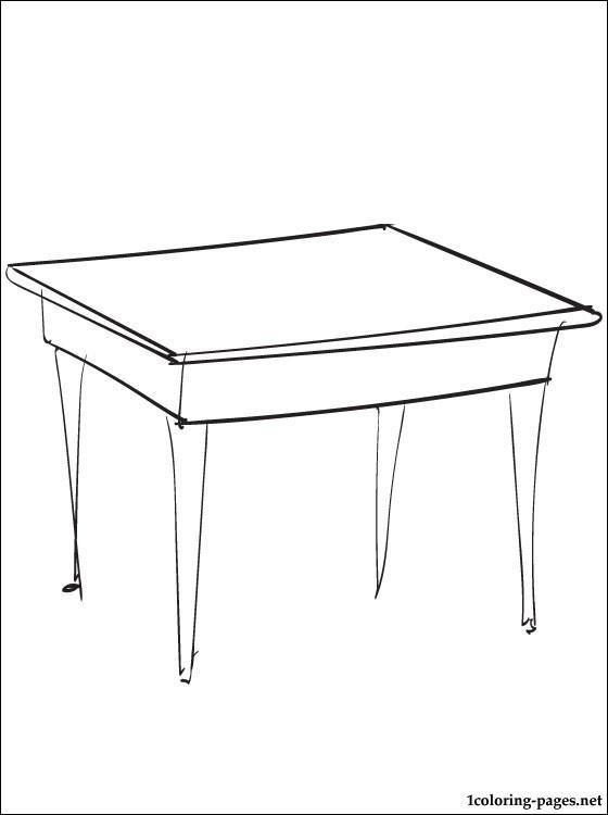 Coloriage et dessins gratuits Table  Salle à manger à imprimer