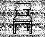 Coloriage et dessins gratuit Une Chaise facile à imprimer
