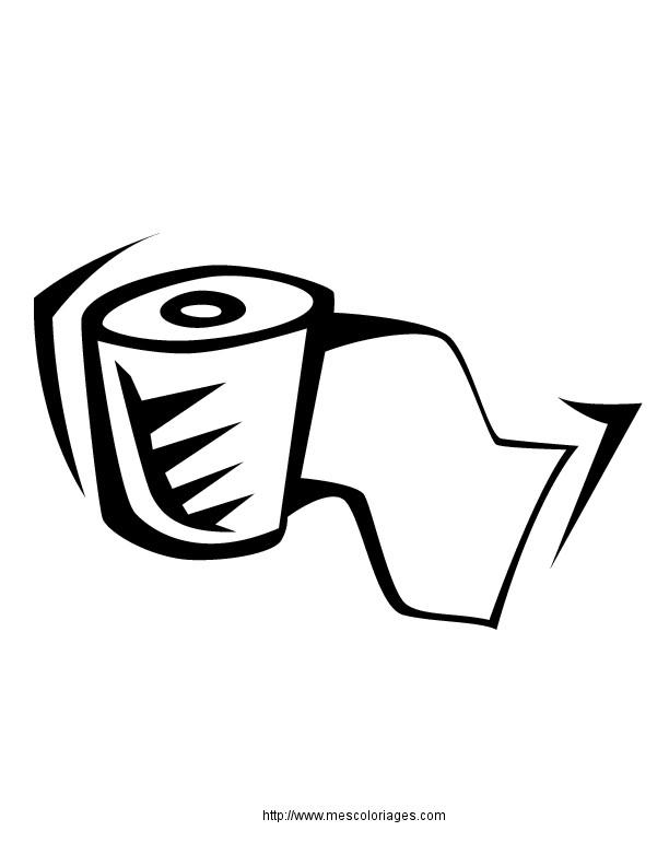 Coloriage et dessins gratuits Papier de Toilette vecteur à imprimer