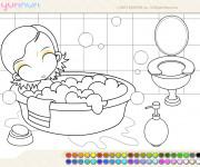 Coloriage Salle de Bain 1