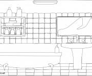 Coloriage et dessins gratuit Salle de Bain Design à imprimer