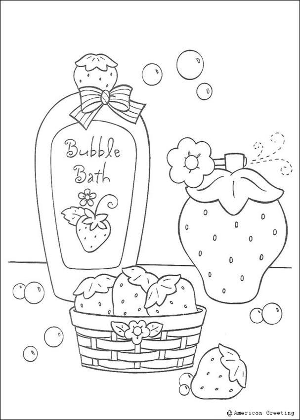 Coloriage et dessins gratuits Salle de Bain et Eau de Toilette à imprimer