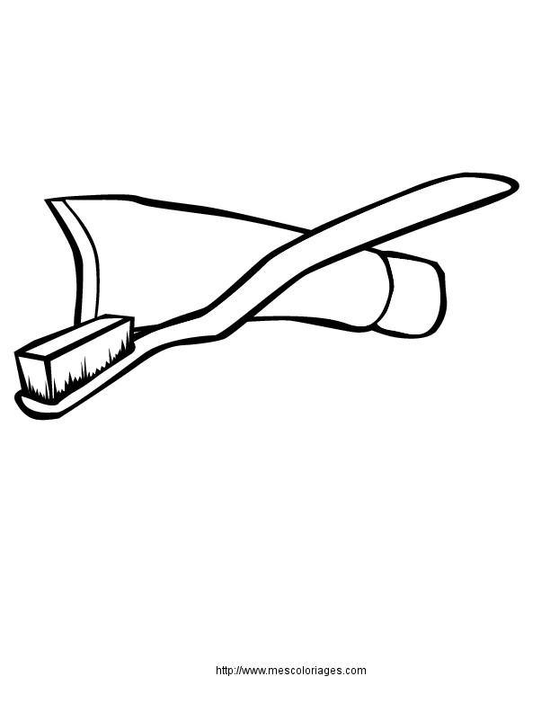 Coloriage et dessins gratuits Salle de Bain La frise de dents à imprimer
