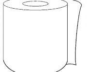 Coloriage Salle de Bain Papier de Toilette