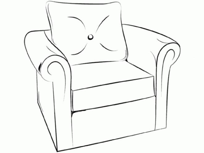 Coloriage et dessins gratuits Fauteuil confortable à imprimer