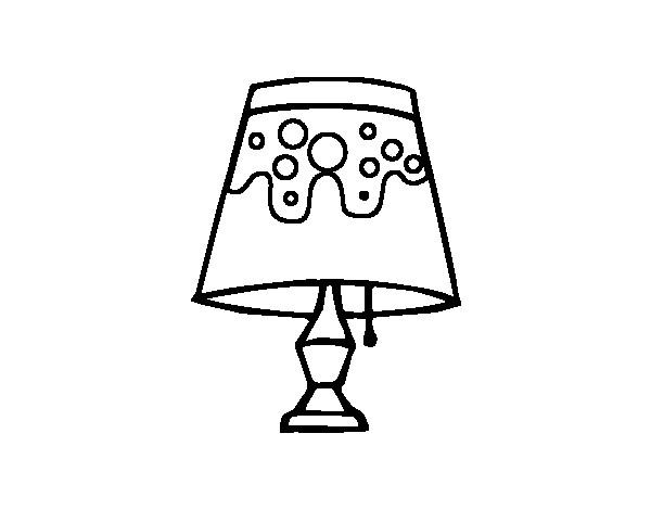 Coloriage et dessins gratuits Lampe de Table à imprimer