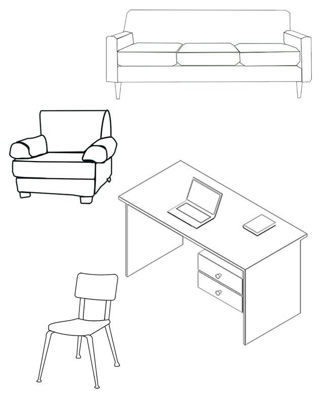 Coloriage et dessins gratuits Meubles de Salon à imprimer