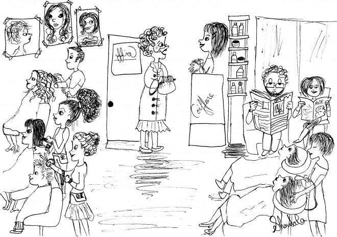 Coloriage et dessins gratuits Salon de coiffure à imprimer