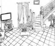 Coloriage et dessins gratuit Salon maternelle à imprimer