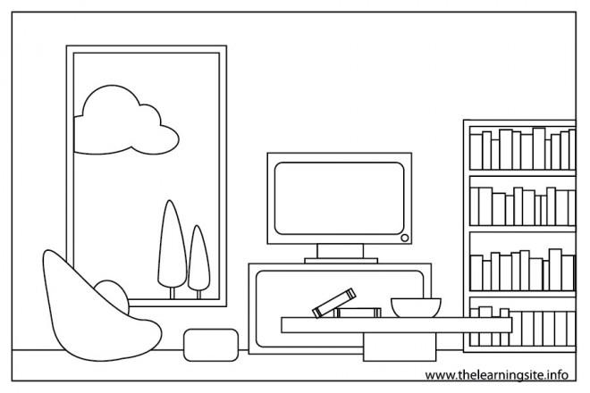 Coloriage et dessins gratuits Salon stylisé à imprimer