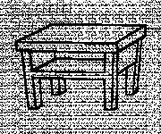 Coloriage Table vecteur